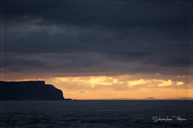 Sunset on Ballintoy